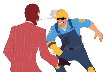 Spy vs Engie 2 by NuclearBandaid