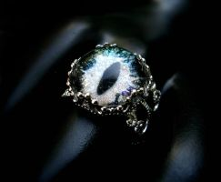 Gold Silver Blue Green Shadow - Estate Ring by LadyPirotessa