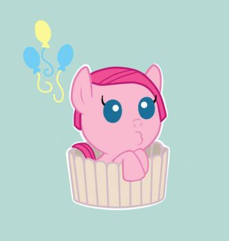 Little Pinkie Pie In A Cupcake Case by Universual-Light001