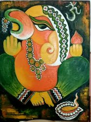 Ganesha and Deepak by manjulak