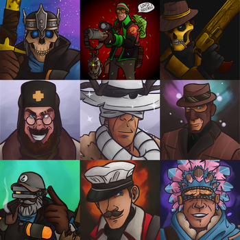 TF2 Loadout Commissions by Shinigami--Apples
