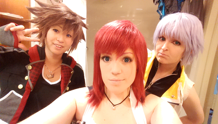 Ax2015 kingdom hearts selfies! by caking93