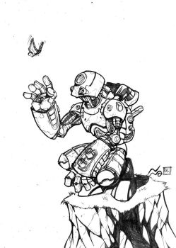 gea robot pin up for charity by Geniss
