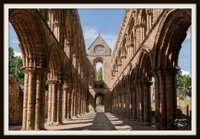 Jedburgh Abbey view from the East by SnapperRod