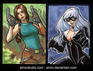 PSC - Lara Croft and Black Cat by aimo