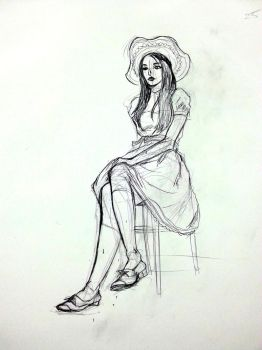 Sundress Sketch by CloudJuinJutsu