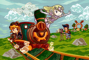 Legend of Zelda: Spirit Tracks by tellielz
