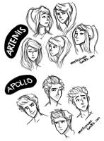 Artemis and Apollo by illustrationrookie