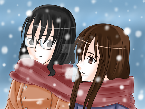 OC - A Snowy Afternoon With My Sister by kazeyurika22