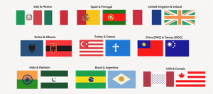 Swapping Flag Designs - Experiment by Dom-Bul