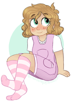 showing off cute socks instead of pedicures by humhoney