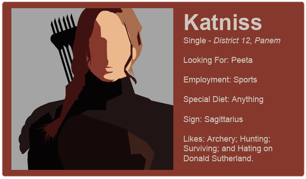 Dating Fictions - Katniss by TheNYRD
