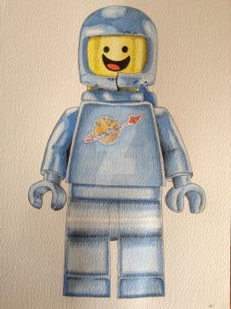 Benny the spaceman lego movie drawing/painting
