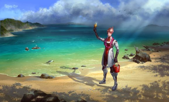 Mordin the Great Marine Biologist by wang2dog