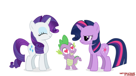 Rarity, Spike and Twilight Sparkle by EugeneBrony