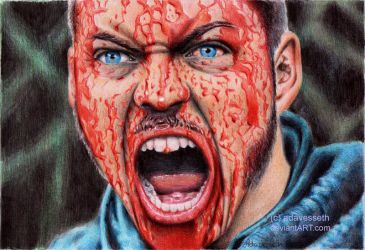 Vikings : Ivar's bloody face by adavesseth
