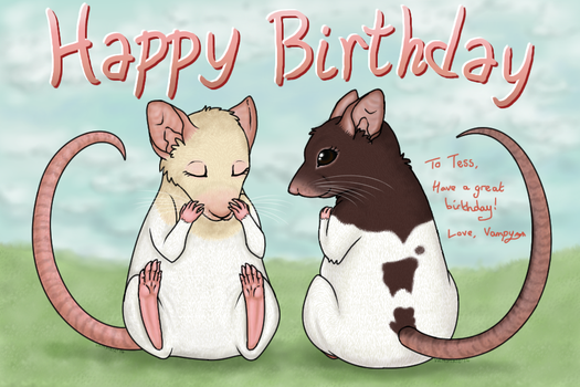 Ratty Birthday by Xantaria