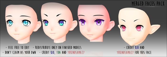 Merged Faces - DOWNLOAD - by YukinoSama27