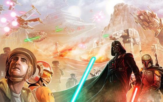 StarWars comission from CartoonCorp Evolution  by LANZAestudio