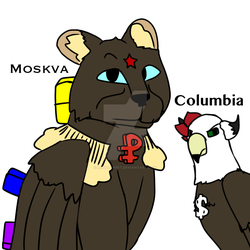 Moskva and Columbia by AGoldspirit