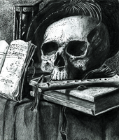 Still life with a skull by Scharle