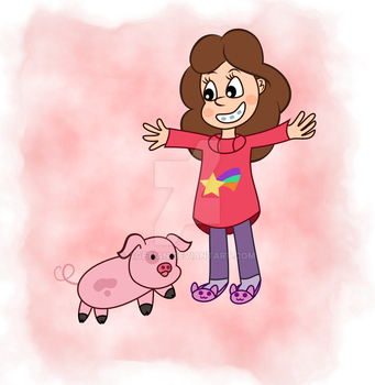 Vector Cuties: Mabel and Waddles by Agetian
