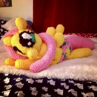 fluttershy plushie progress part 7 the FINAL by mirry92