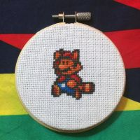 Tanooki Mario by MadXStitcher