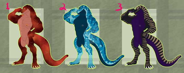 [ADOPTS] Crocagon Batch! [2/3 OPEN] by kankurosdoll