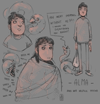Alma - sketches by MouthlessMouse
