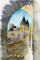 Carcassonne by llewllaw