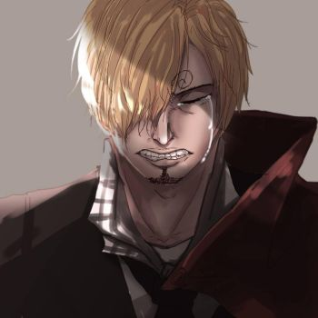 Sanji Crying by fpxzy111