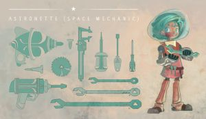 Astronette (Space Mechanic) by Chiara-Maria