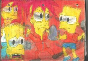 Sideshow Bob and Bart 5 by RozStaw57