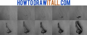 how to draw a nose by HowToDrawItAll