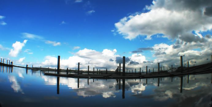 Boat Launch Clouds by liveasyouwill