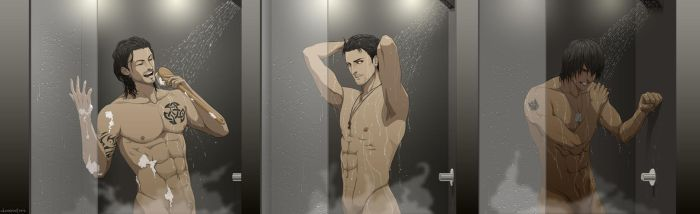 Commission: Seekers in Shower by doubleleaf