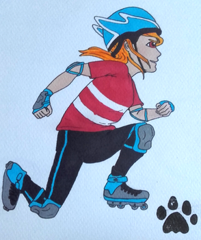 30 characters challenge : #8. Roller skater by Kitten-Draws
