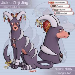 High Rollers - Houndoom Juitou by RatherPeculiar
