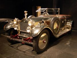 polished aluminum 1926 Daimler by Partywave
