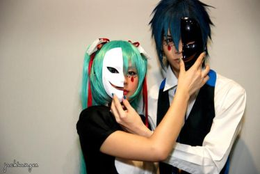 MikuxKAITO - Crazy clown by Onnies