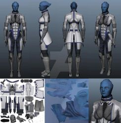 Dr. Liara T'Soni - WIP by CrimsonStrife