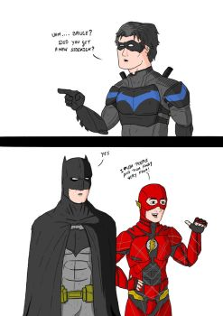 Nightwing Meets The Flash by Razanul