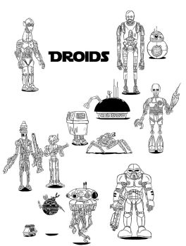 Star Wars some droids by Ruyc