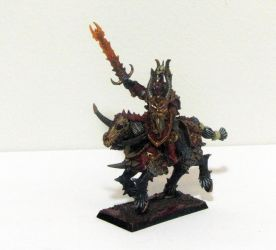Warriors of Chaos Khorne Knights Champion by roganzar