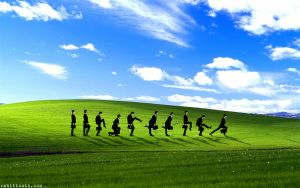 Ministry of Silly Walks Windows XP Background by Rabittooth