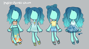 [outfit set] - PeachThePlum by hello-planet-chan