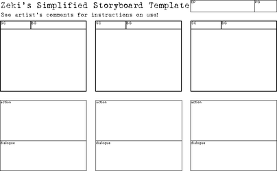 Simplified Storyboard Template by CookiePhantom