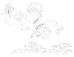 AT - Rayman Chasing A Lum by ClaireAimee