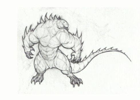 Muscle lizard by krigg